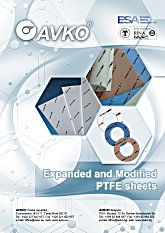 Expanded and modified ptfe sheets